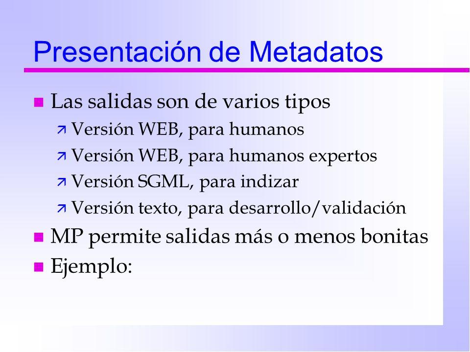 Presentación de Metadatos