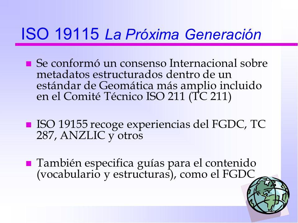 ISO 19115 La Próxima Generación
