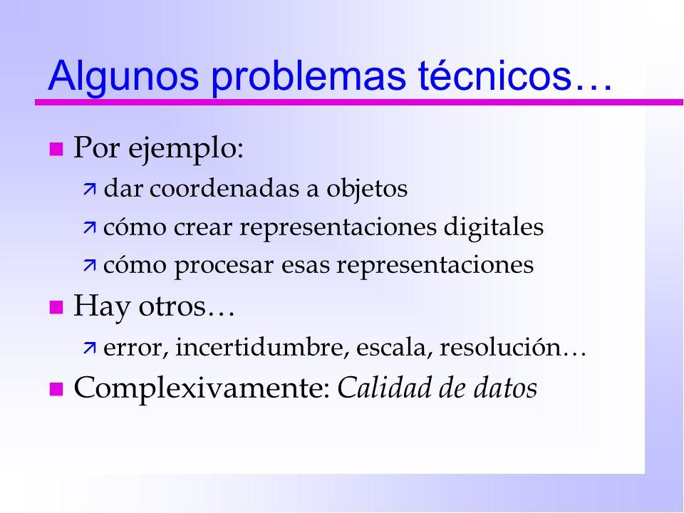 Algunos problemas técnicos…