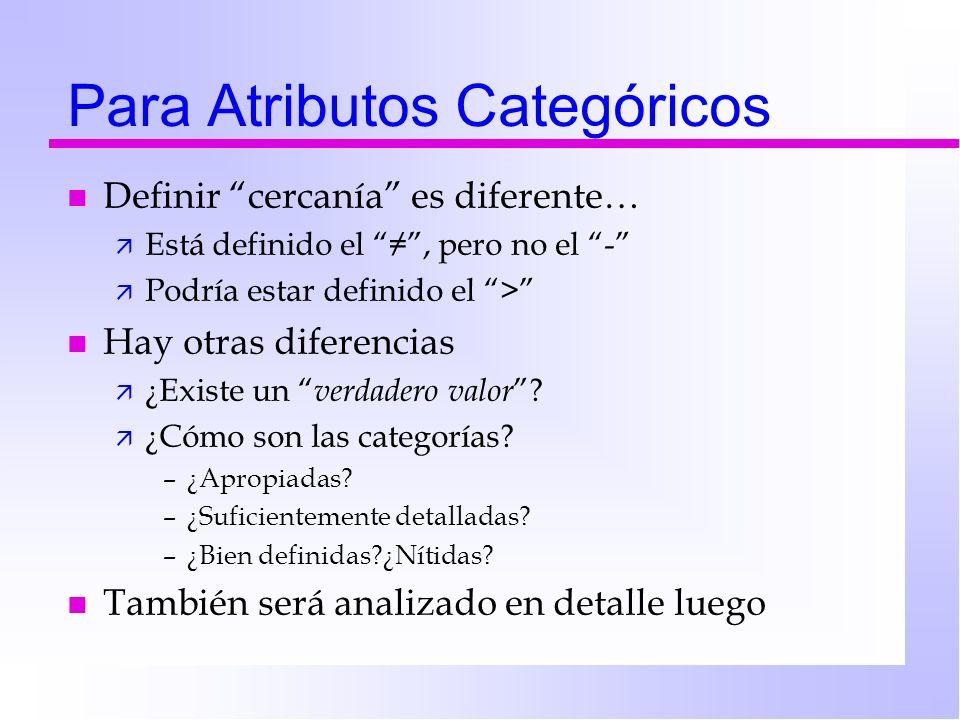 Para Atributos Categóricos