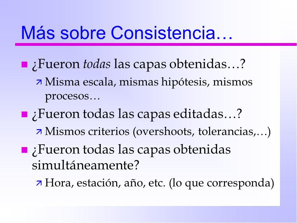 Más sobre Consistencia…
