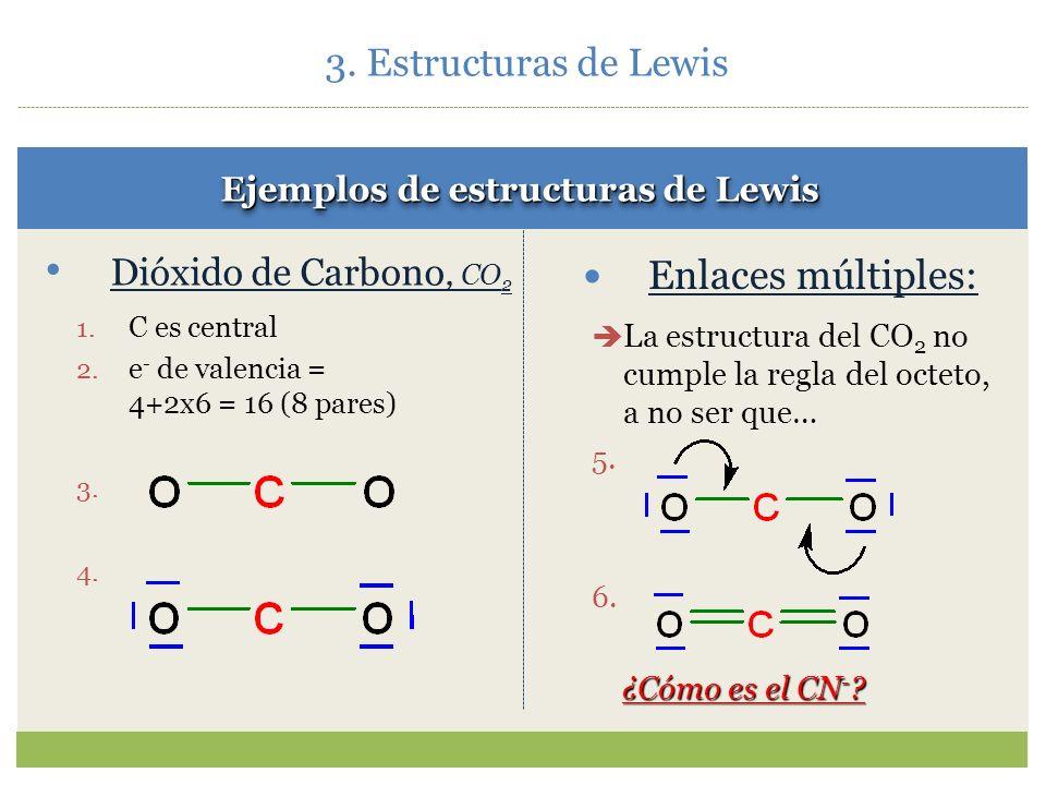 Ejemplos de estructuras de Lewis