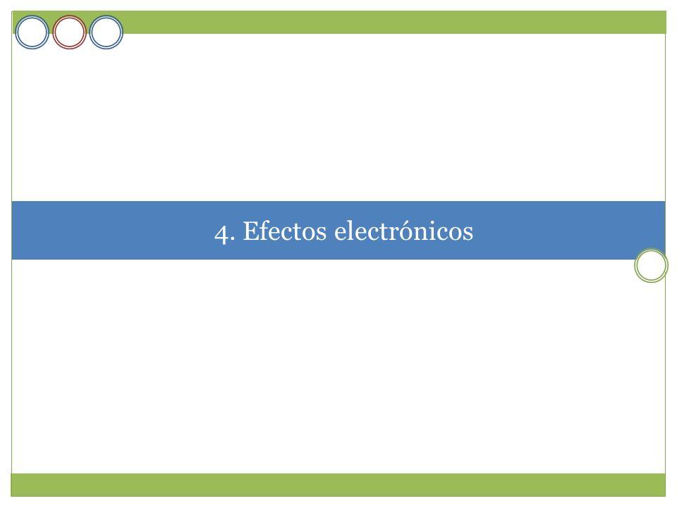4. Efectos electrónicos