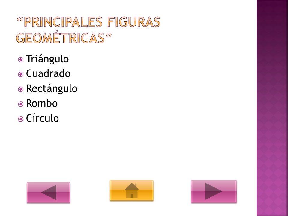 PRINCIPALES FIGURAS GEOMÉTRICAS