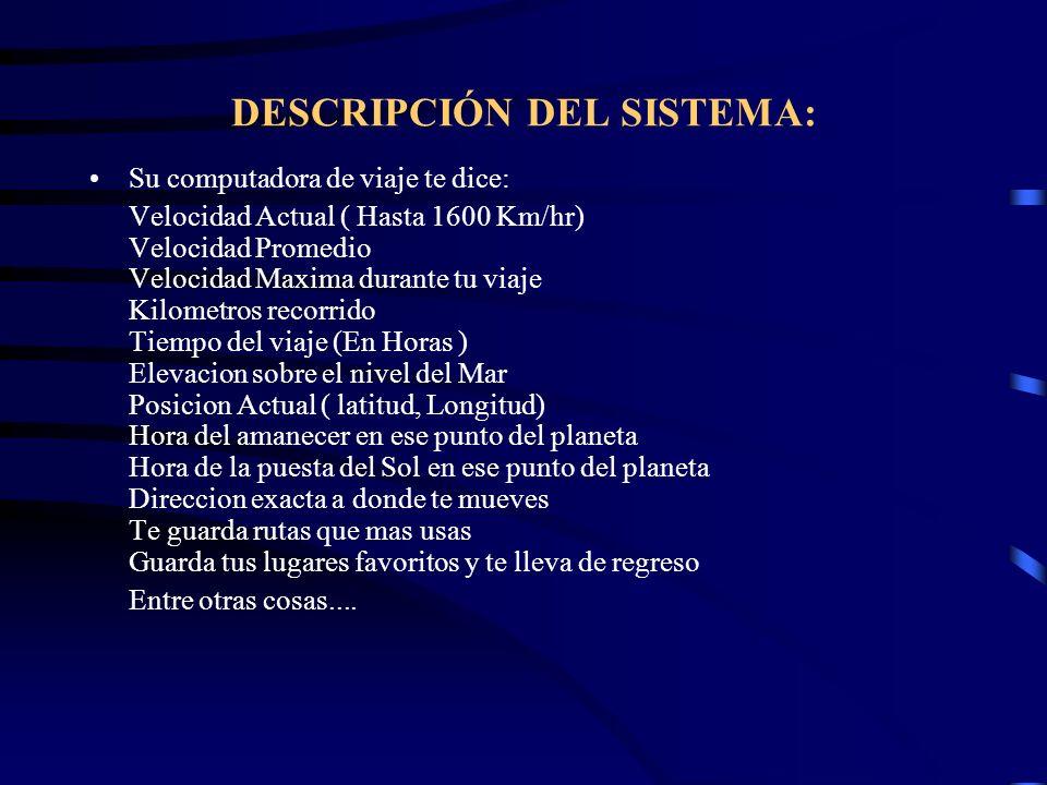 DESCRIPCIÓN DEL SISTEMA: