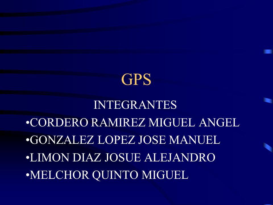 GPS INTEGRANTES CORDERO RAMIREZ MIGUEL ANGEL