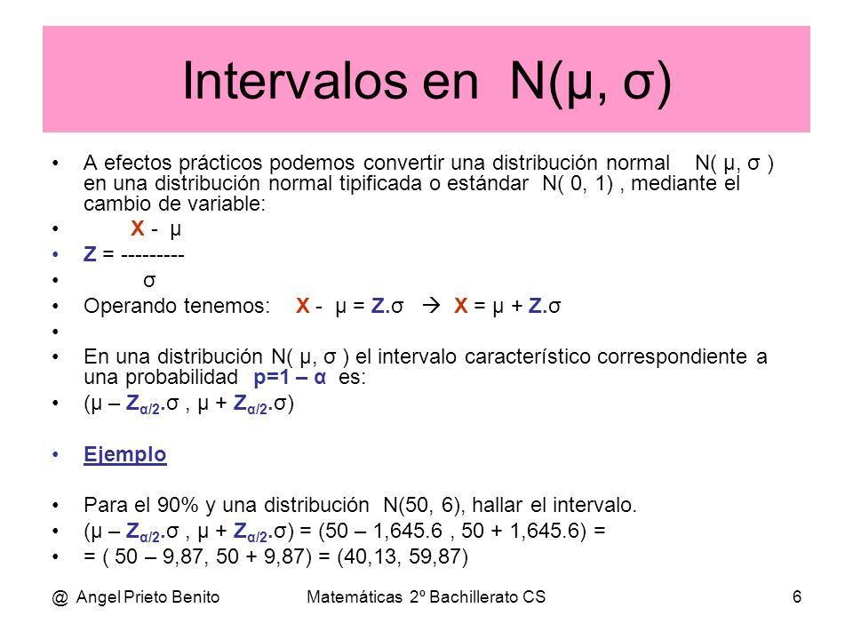Matemáticas 2º Bachillerato CS