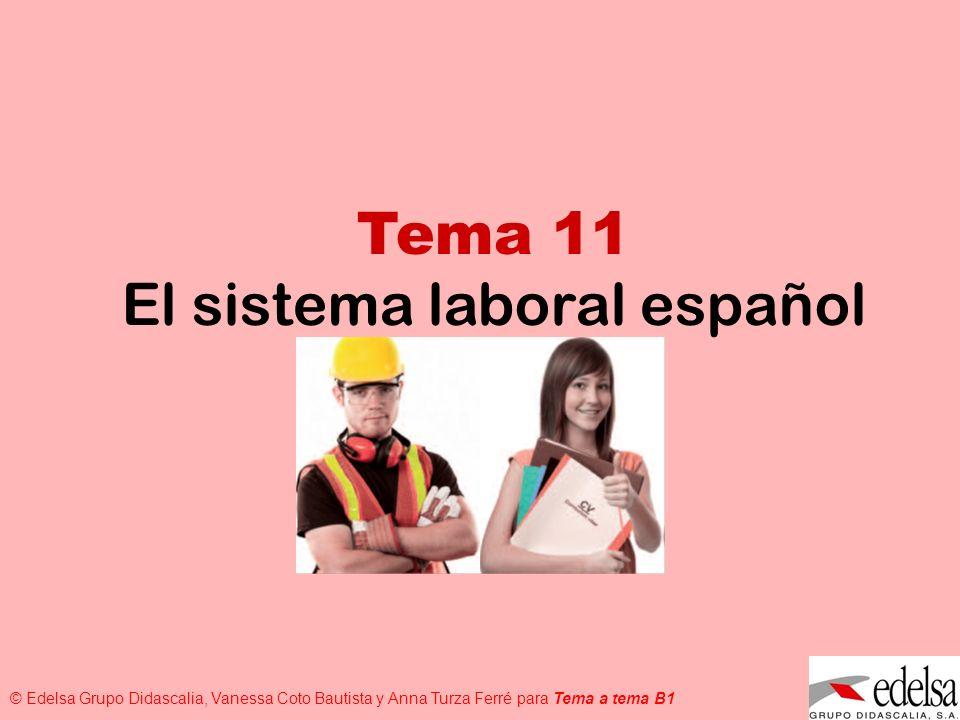 El sistema laboral español