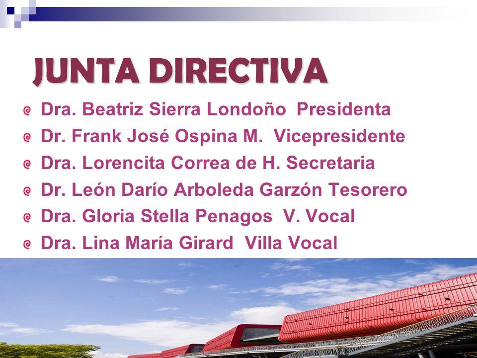 JUNTA DIRECTIVA Dra. Beatriz Sierra Londoño Presidenta