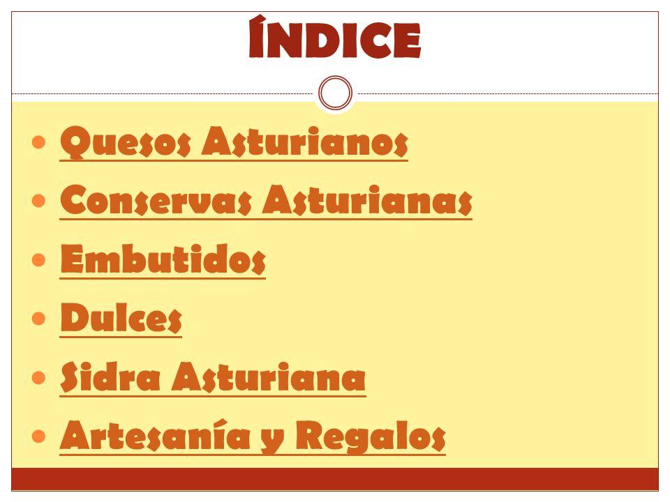 ÍNDICE Quesos Asturianos Conservas Asturianas Embutidos Dulces