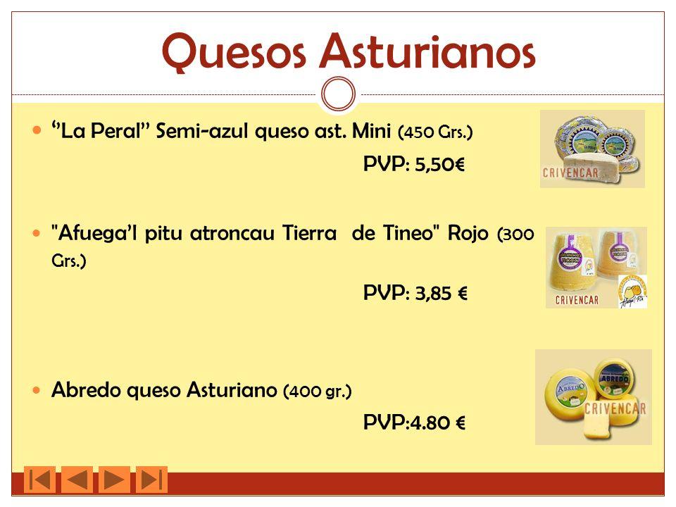 Quesos Asturianos ''La Peral'' Semi-azul queso ast. Mini (450 Grs.)