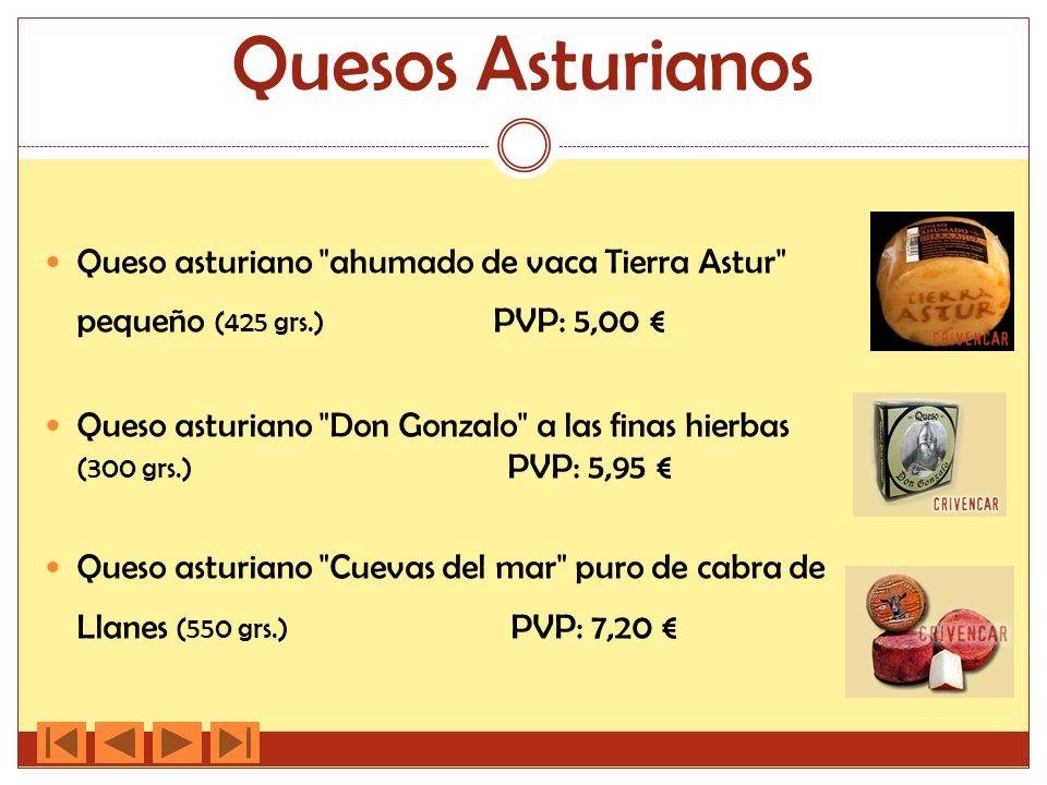 Quesos Asturianos Queso asturiano ahumado de vaca Tierra Astur pequeño (425 grs.) PVP: 5,00 €