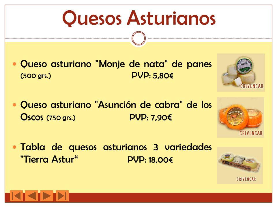 Quesos Asturianos Queso asturiano Monje de nata de panes (500 grs.) PVP: 5,80€