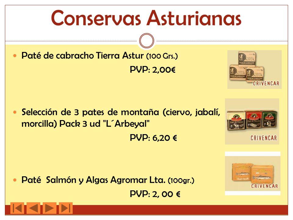 Conservas Asturianas Paté de cabracho Tierra Astur (100 Grs.)
