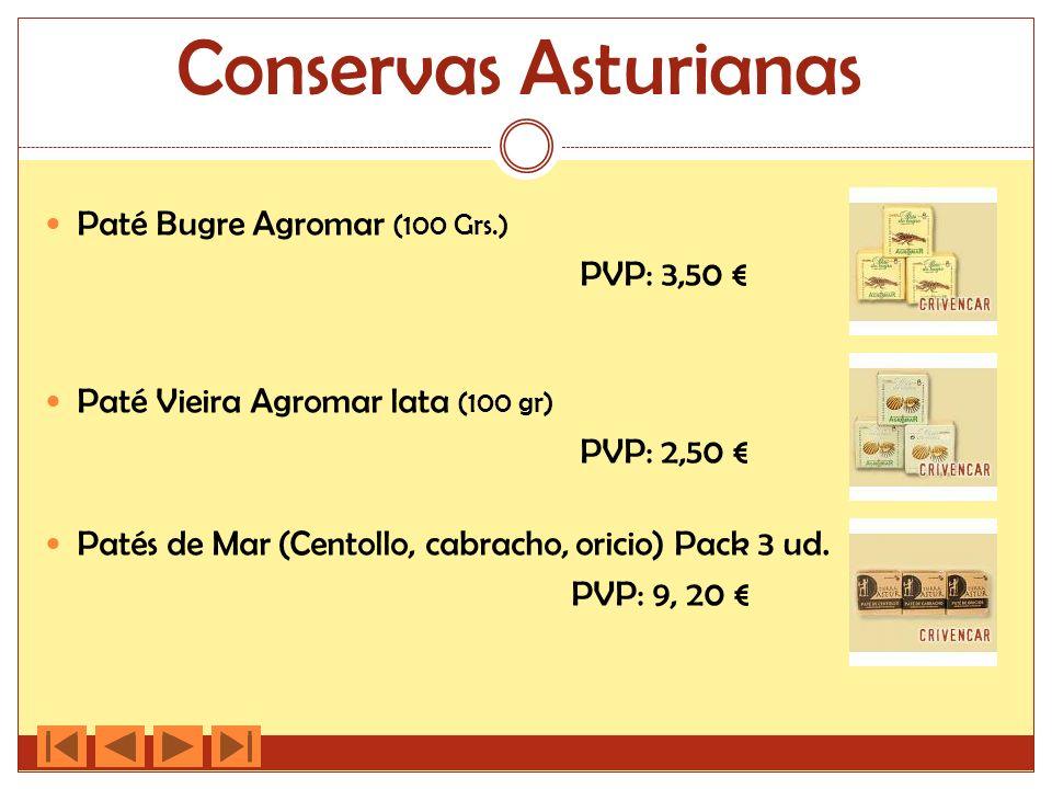 Conservas Asturianas Paté Bugre Agromar (100 Grs.) PVP: 3,50 €