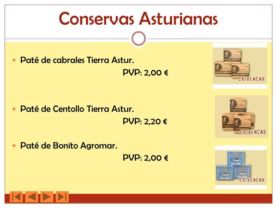 Conservas Asturianas Paté de cabrales Tierra Astur. PVP: 2,00 €
