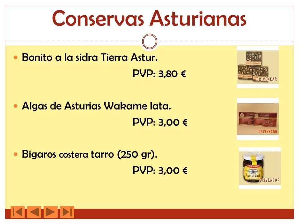 Conservas Asturianas Bonito a la sidra Tierra Astur. PVP: 3,80 €