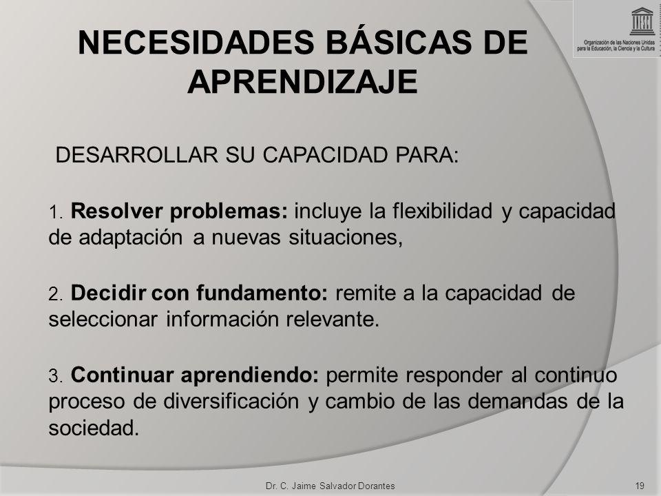 NECESIDADES BÁSICAS DE APRENDIZAJE