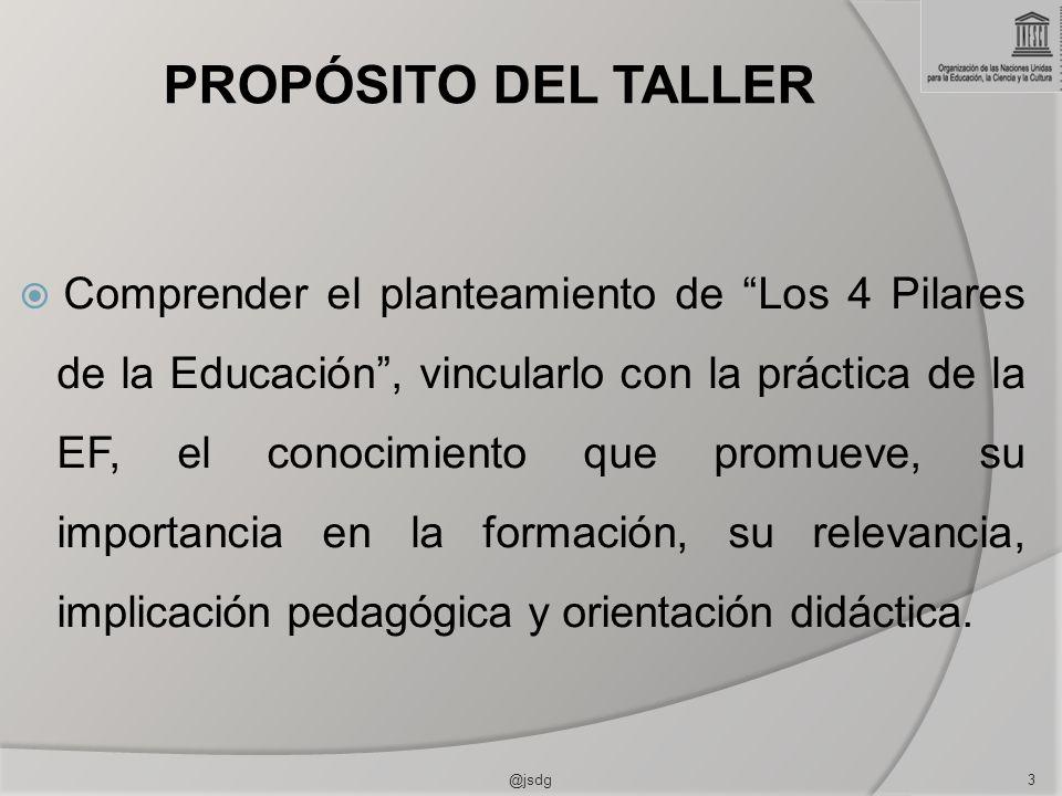 PROPÓSITO DEL TALLER