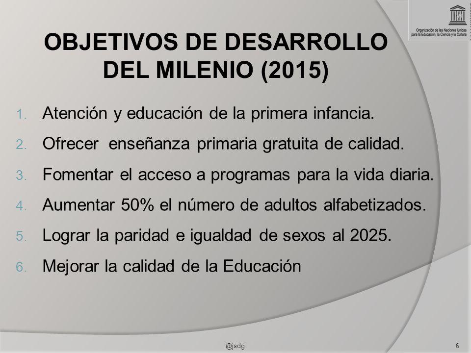 OBJETIVOS DE DESARROLLO DEL MILENIO (2015)
