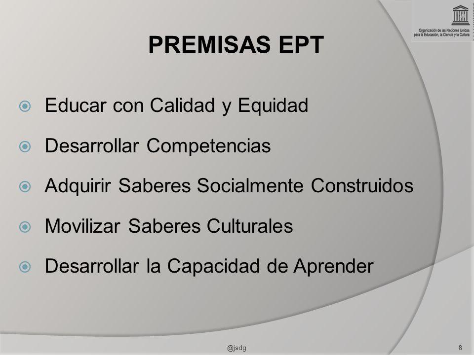 PREMISAS EPT Educar con Calidad y Equidad Desarrollar Competencias