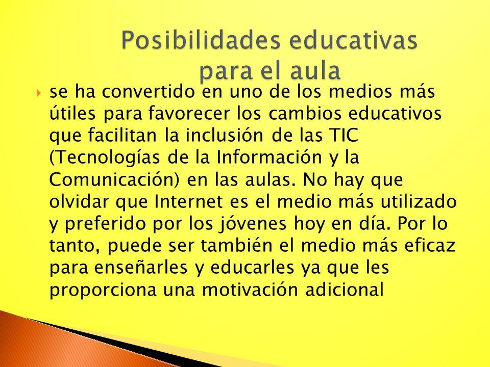 Posibilidades educativas para el aula