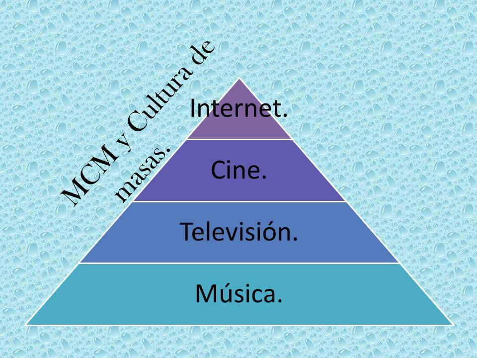 Internet. Cine. Televisión. Música. MCM y Cultura de masas.