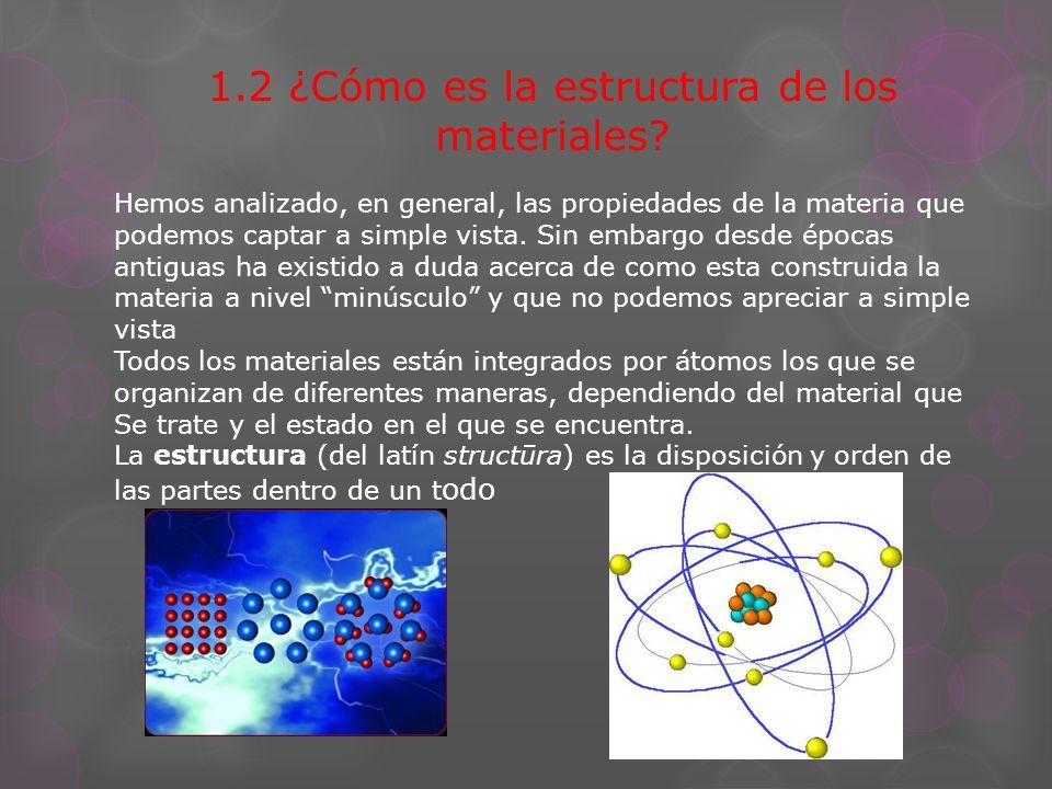 1.2 ¿Cómo es la estructura de los materiales