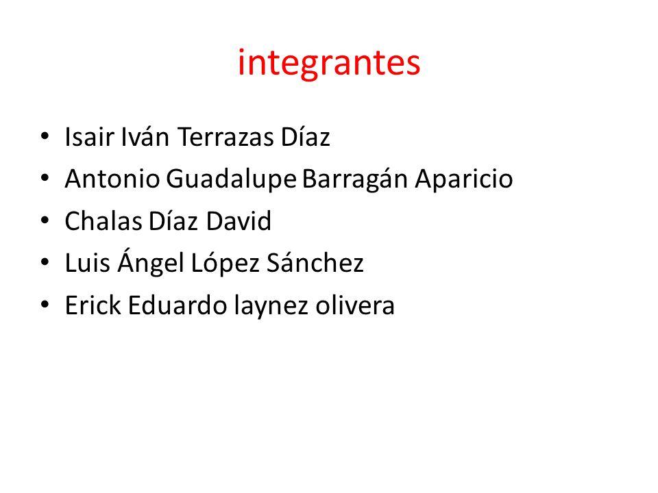 integrantes Isair Iván Terrazas Díaz