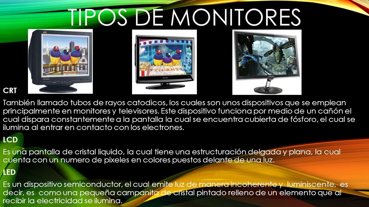 TIPOS DE MONITORES CRT.