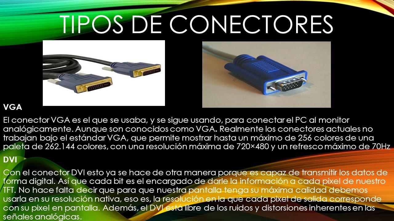 TIPOS DE CONECTORES VGA
