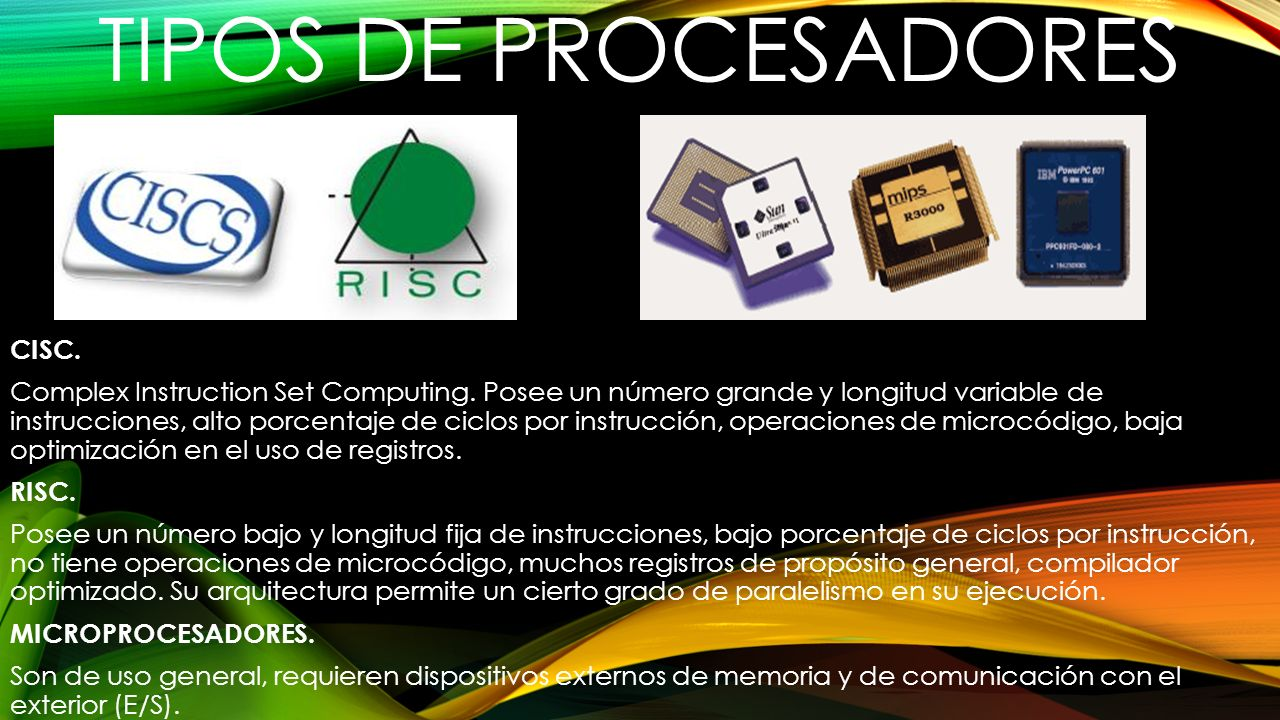 TIPOS DE PROCESADORES CISC.