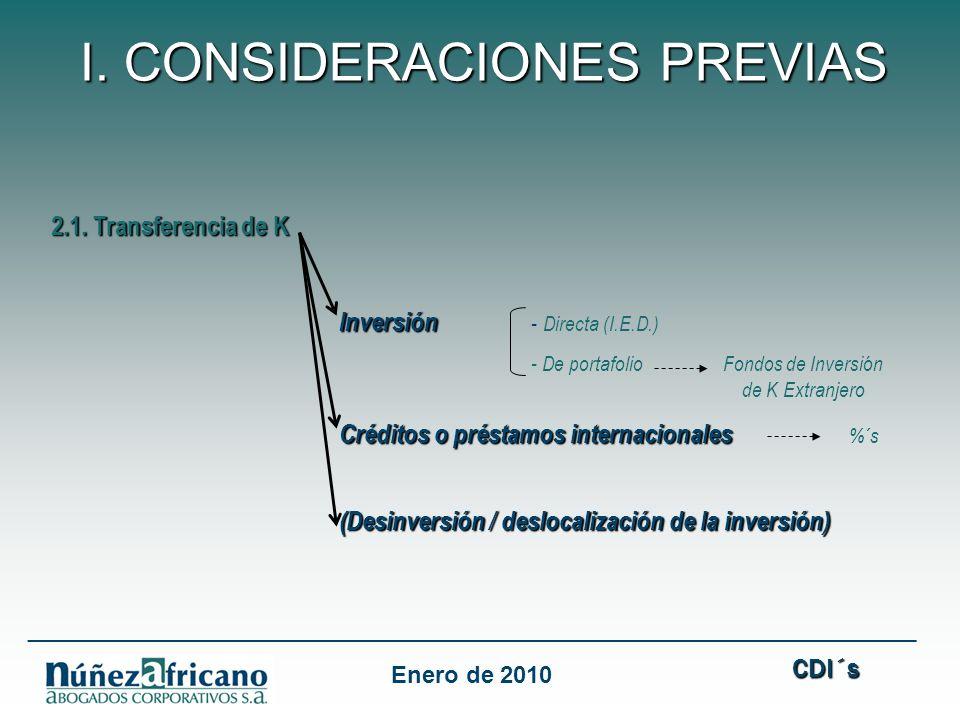 I. CONSIDERACIONES PREVIAS