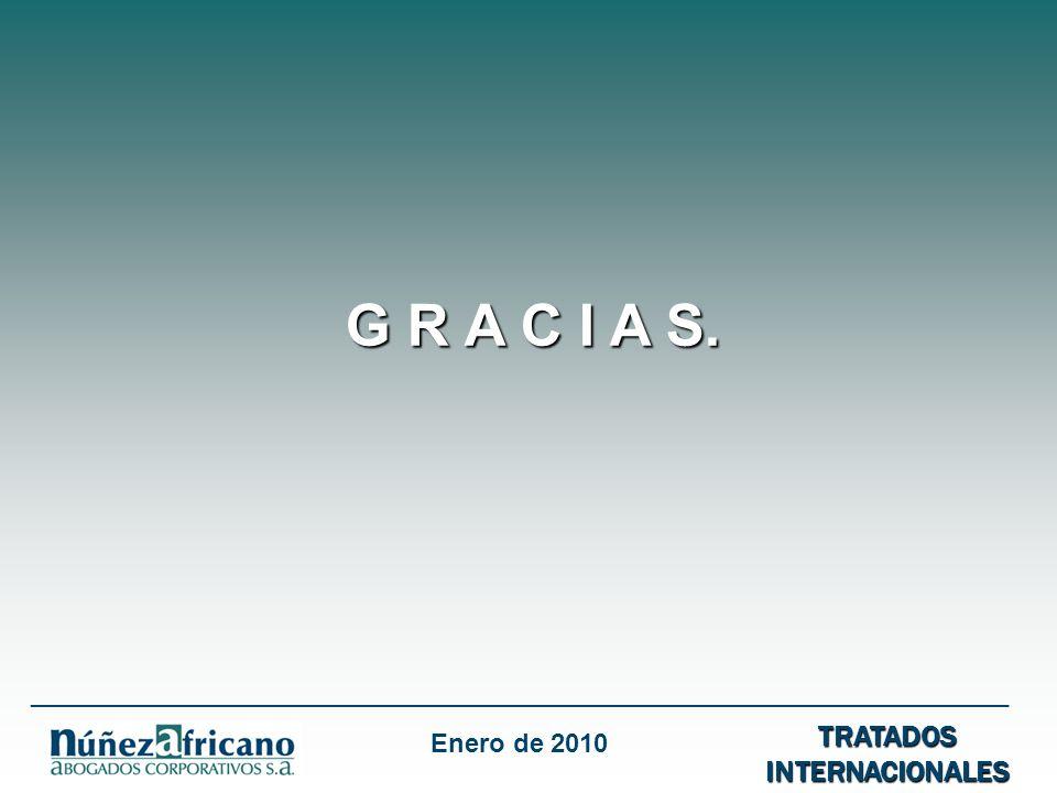 G R A C I A S. TRATADOS INTERNACIONALES