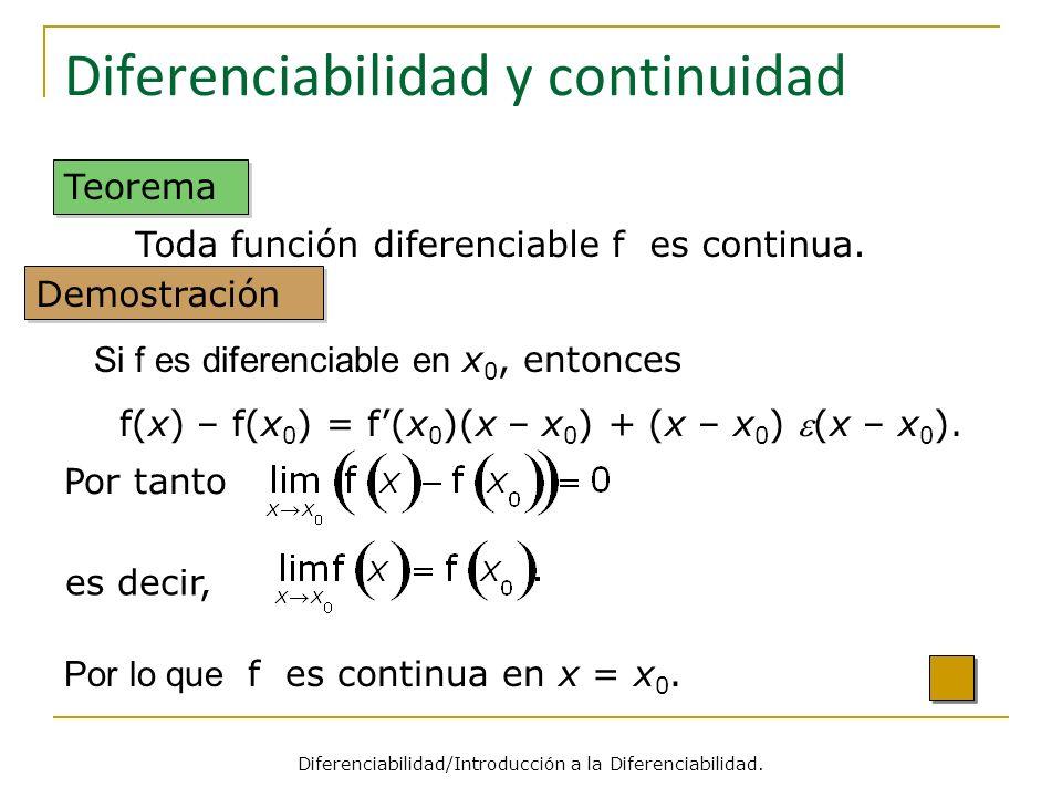 Diferenciabilidad y continuidad