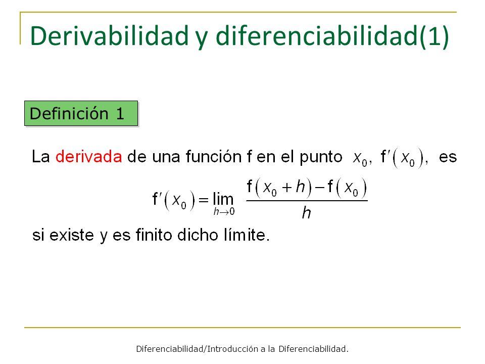 Derivabilidad y diferenciabilidad(1)