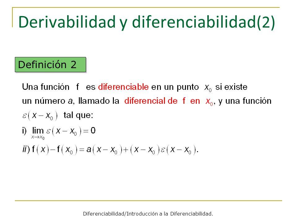 Derivabilidad y diferenciabilidad(2)