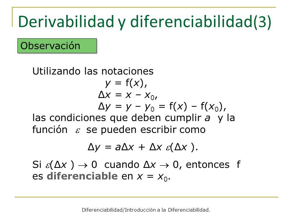 Derivabilidad y diferenciabilidad(3)