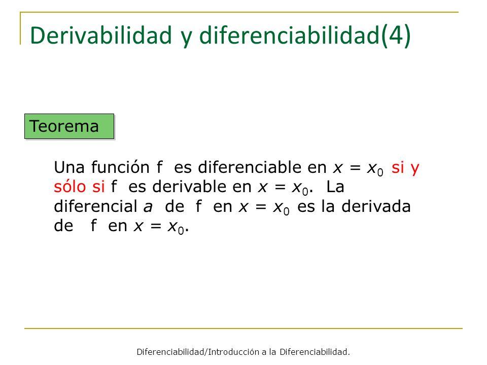 Derivabilidad y diferenciabilidad(4)