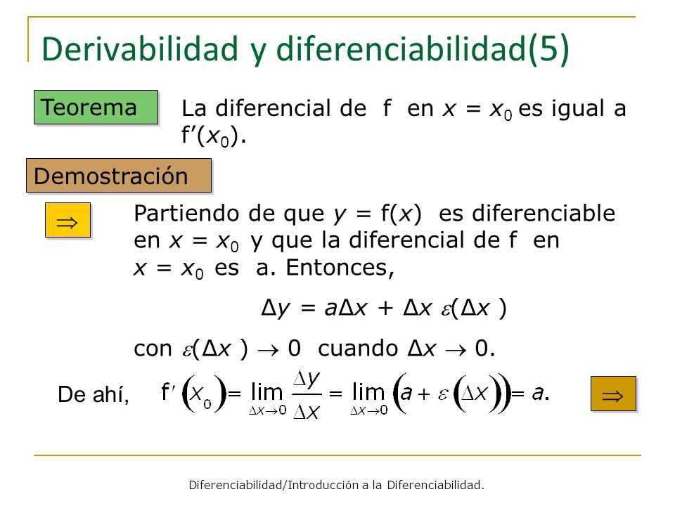 Derivabilidad y diferenciabilidad(5)