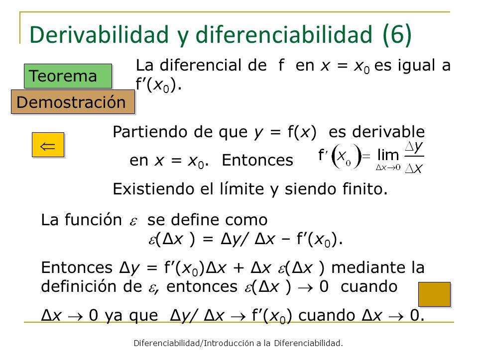 Derivabilidad y diferenciabilidad (6)