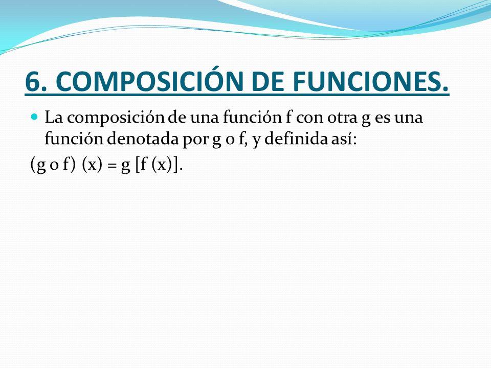 6. COMPOSICIÓN DE FUNCIONES.