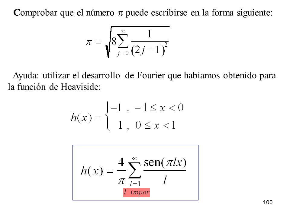 Comprobar que el número p puede escribirse en la forma siguiente: