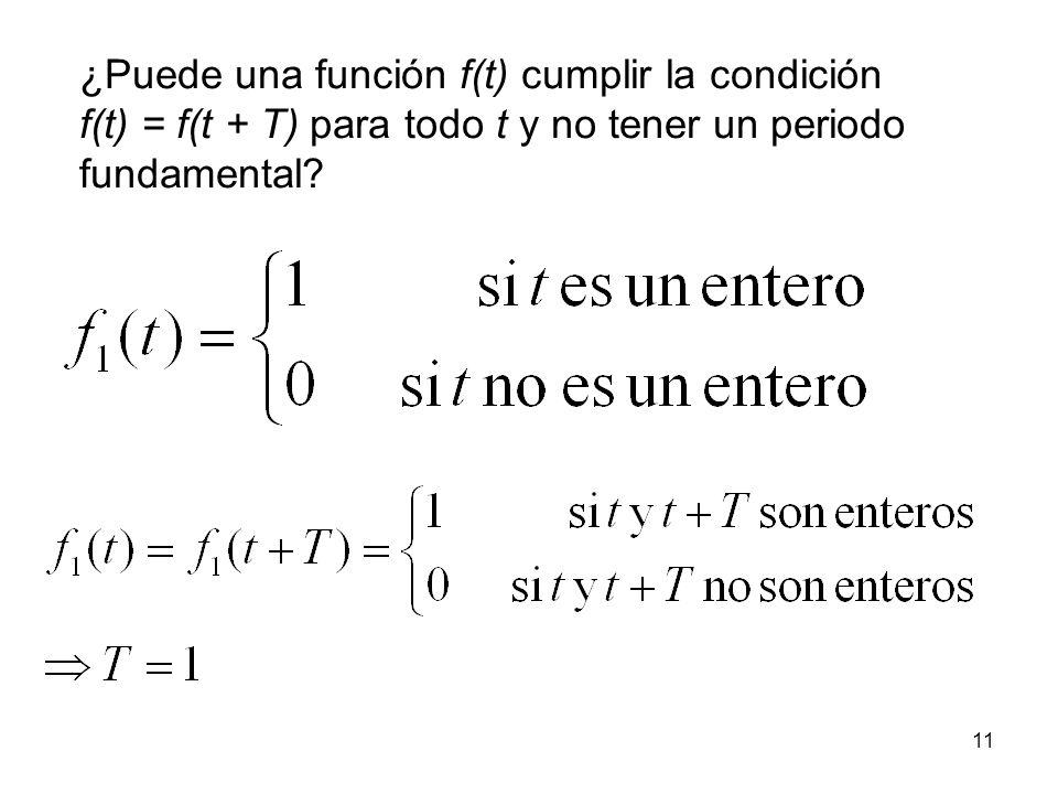¿Puede una función f(t) cumplir la condición