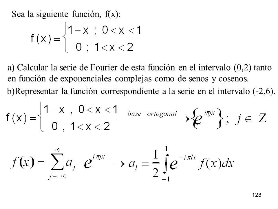 Sea la siguiente función, f(x):