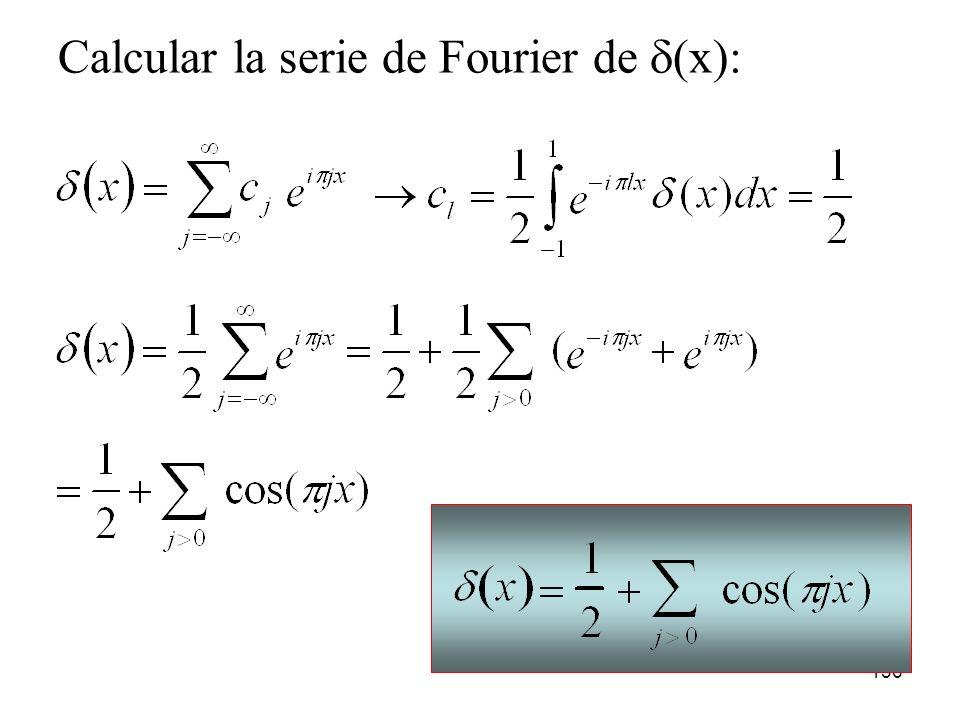 Calcular la serie de Fourier de d(x):