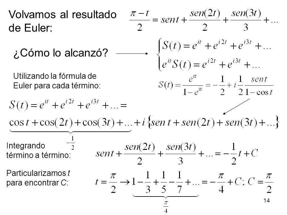 Volvamos al resultado de Euler: ¿Cómo lo alcanzó