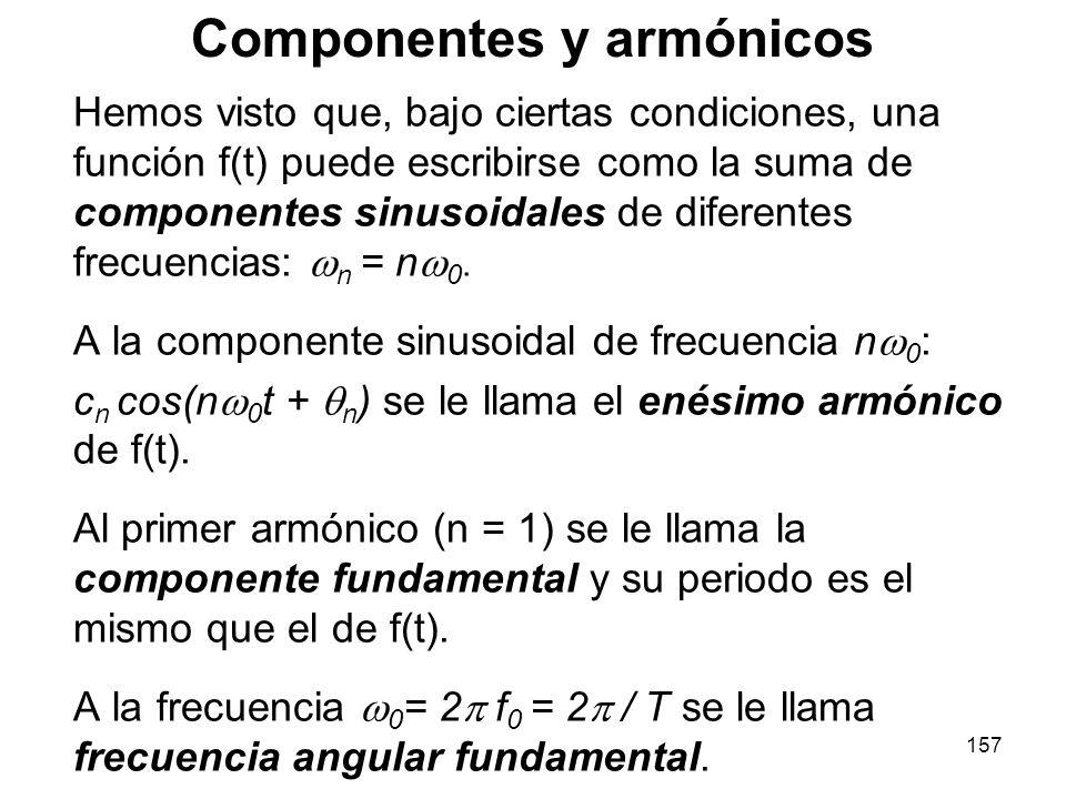 Componentes y armónicos