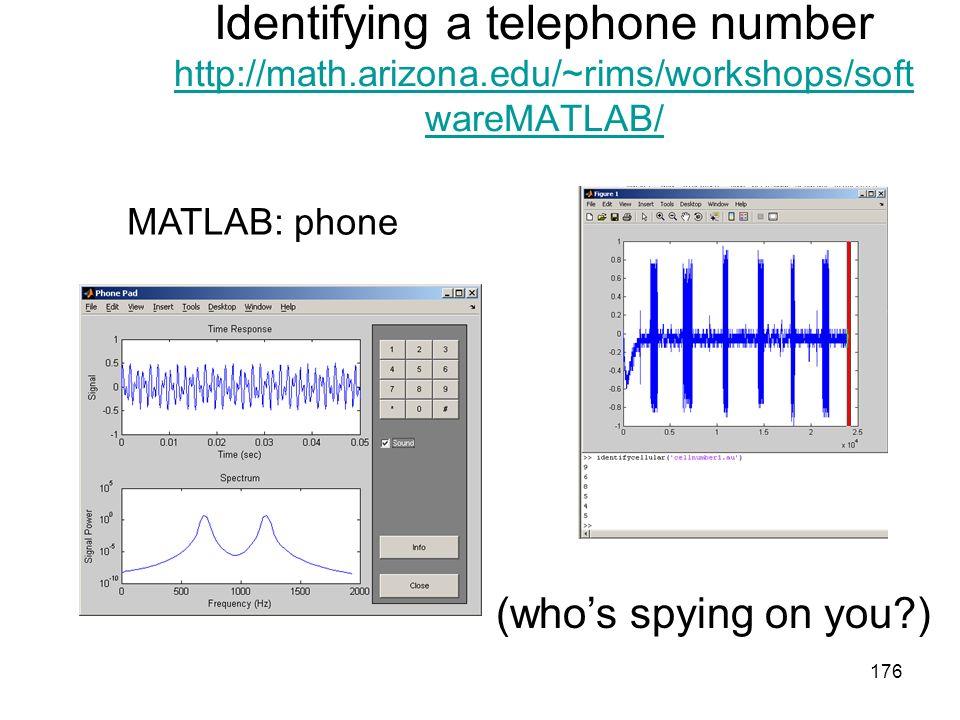 Identifying a telephone number http://math. arizona