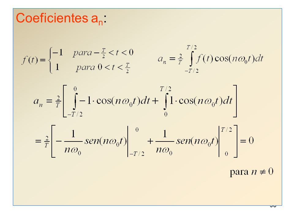 Coeficientes an:
